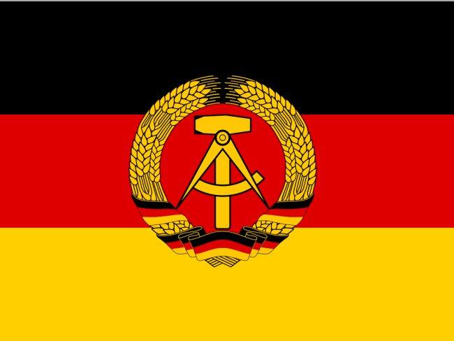 Alemanha Oriental bandeira