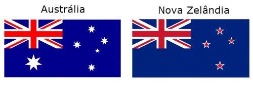 Bandeira da Austrália e Nova Zelândia