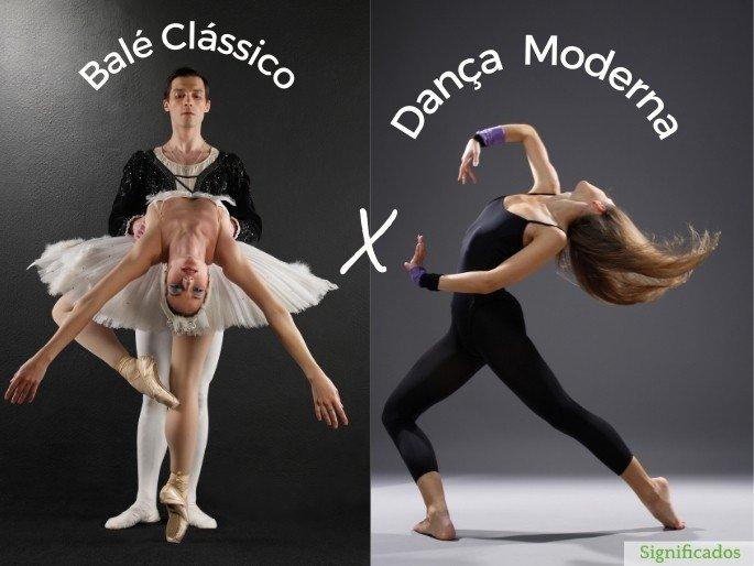 dança moderna x balé classico