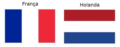 Bandeira da França e Bandeira da Holanda