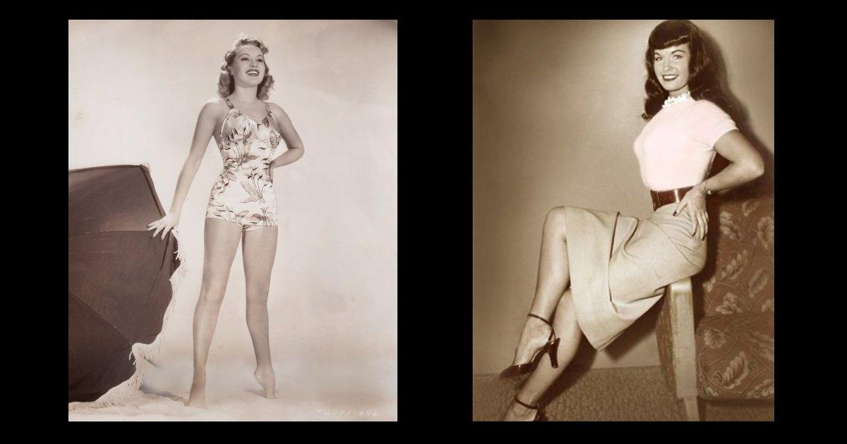 Betty Grable e Bettie Page