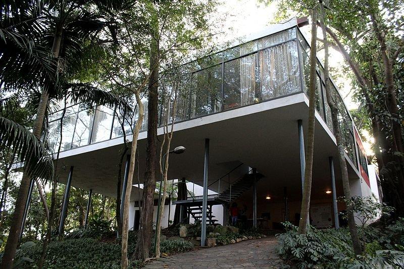 Casa de vidro - arquitetura moderna
