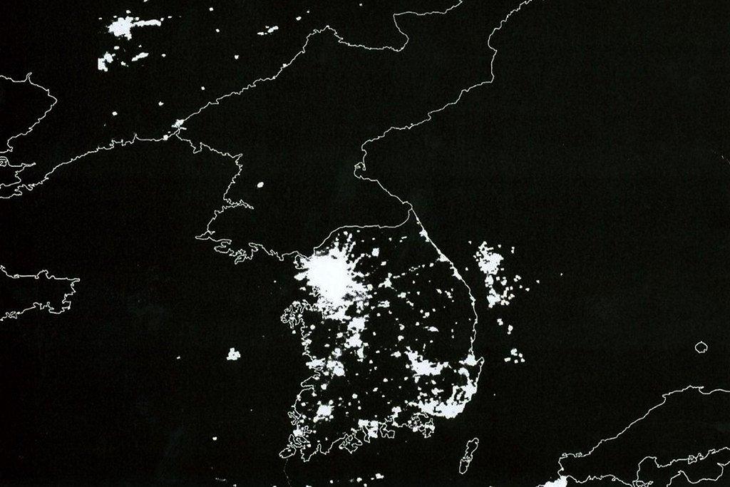 Coreia do Norte iluminação