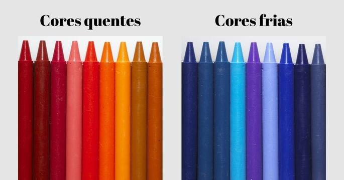 cores quentes e cores frias