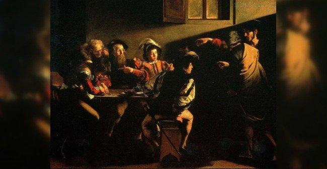 vocação de são mateus - Caravaggio
