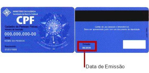 Data emissão CPF