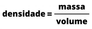Densidade fórmula