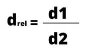 Fórmula 1 densidade relativa