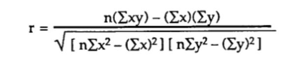 equação - correlação - etapa 6