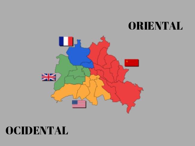 mapa alemanha divisão