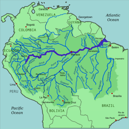 mapa floresta amazônica