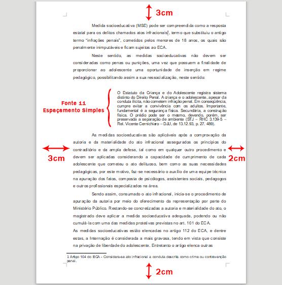 Exemplos De Formatação Pelas Regras E Normas Da Abnt Para