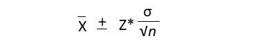 fórmula intervalo de confiança