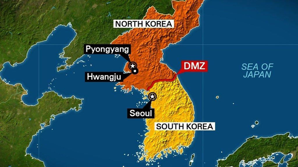 Mapa Coreia do norte