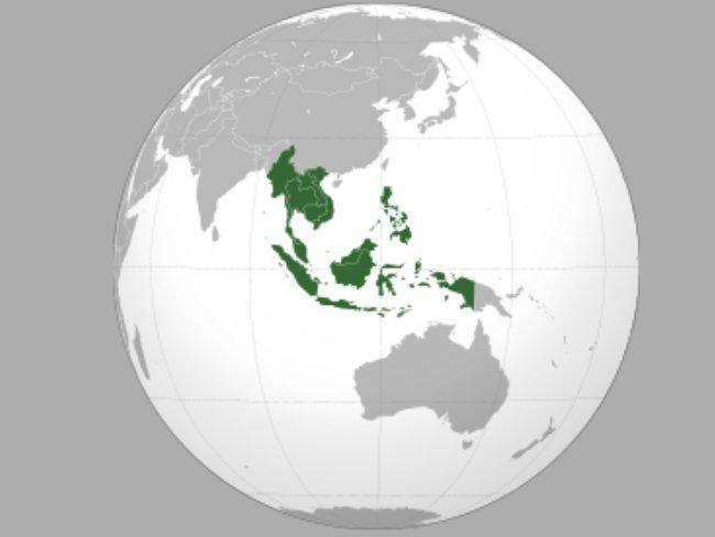mapa da Asean