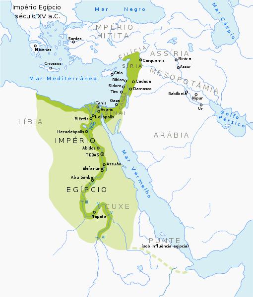 Mapa egito antigo