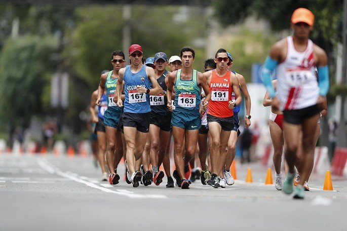 Atletas da marcha atlética