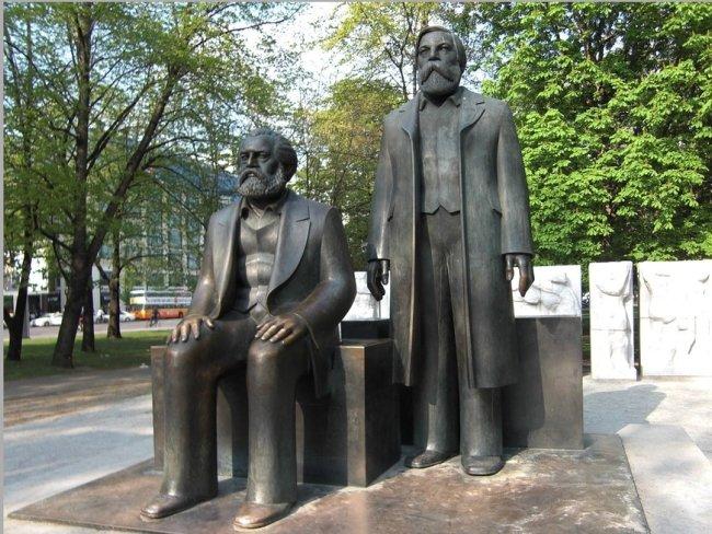 marx engels statues
