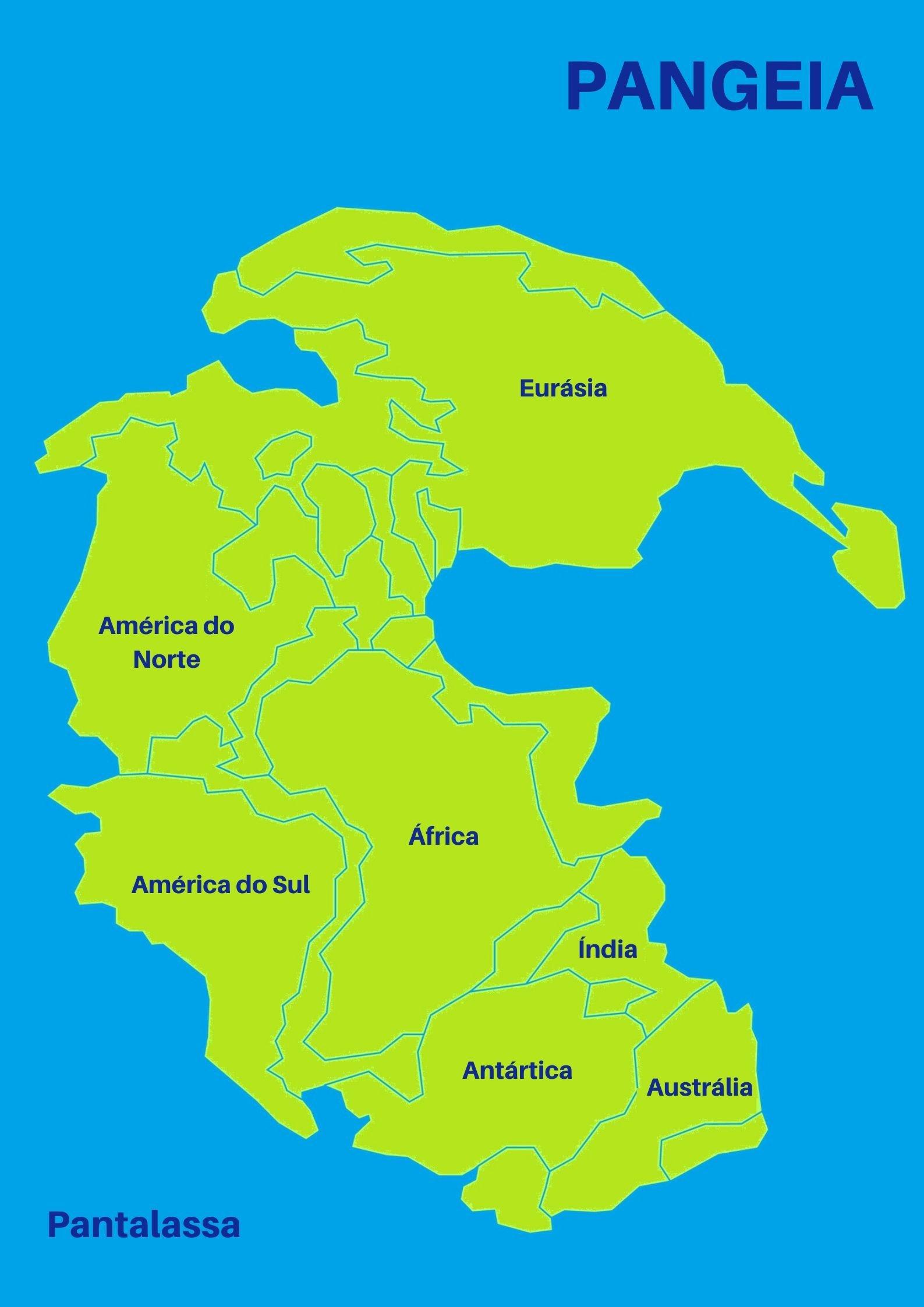 Pangeia mapa