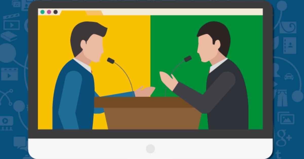 políticos debate