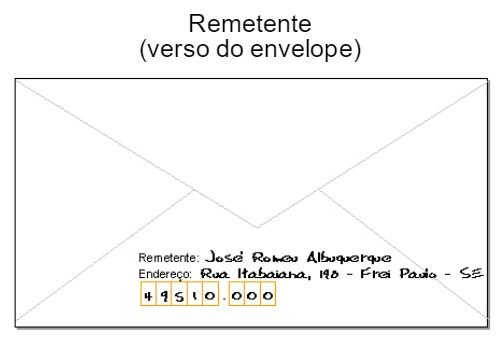 Remetente - Carta