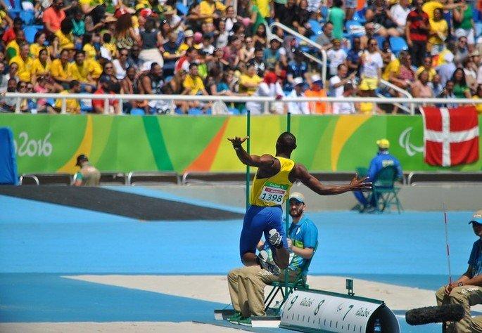 Atleta do salto em distância