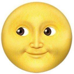 lua cheia com rosto
