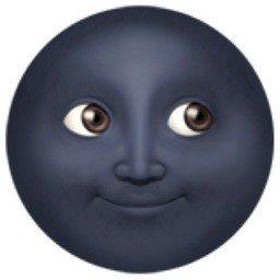 emoji lua nova com rosto