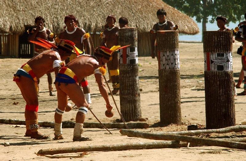 ritual dos índios kayamurá