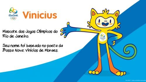 Vinicius - Mascote Olimpíadas do Rio 2016